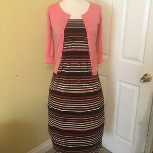 Bundle dress with sweater size s